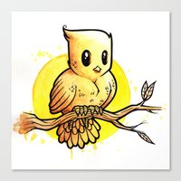 Stop Overthinking This Gosh Darn Crap and Just Draw a Bird! Canvas Print