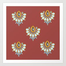 Hindi Pattern Art Print