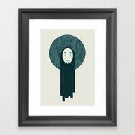 Spirited Away, No Face  Framed Art Print