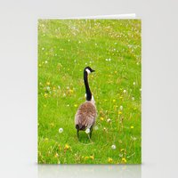Goose In A Field Of Flow… Stationery Cards