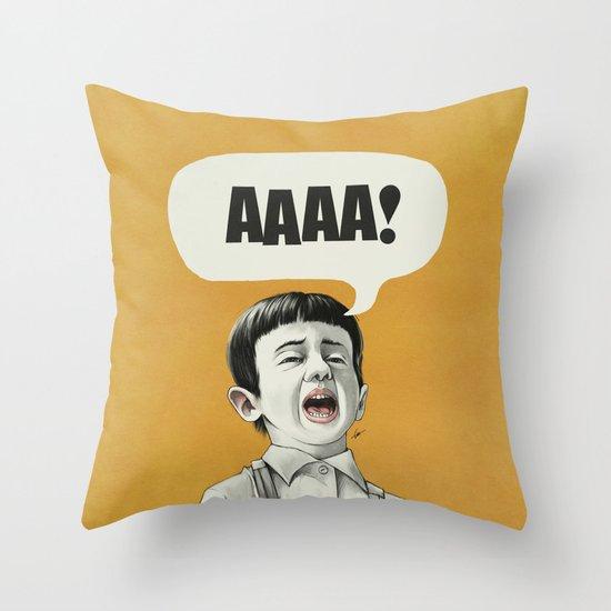 AAAA! (Golden) Throw Pillow