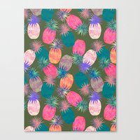 Pina Colada Bright Canvas Print
