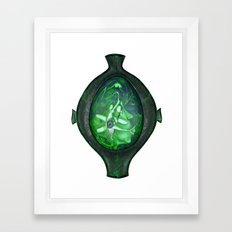Eye green Framed Art Print