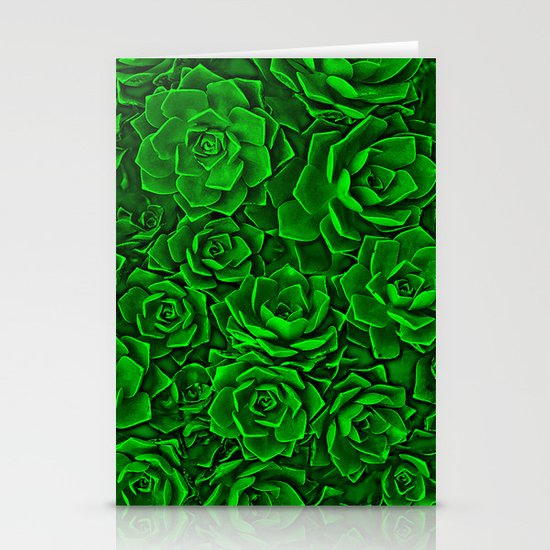 Succulent Green Stationery Card