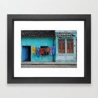 Out to dry in rural Bahia Framed Art Print