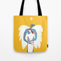New Christmas Family in Yellow Tote Bag