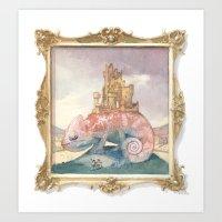 Camelot on a Chameleon Art Print