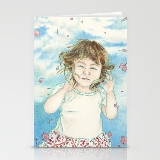 Spring Gust Stationery Card