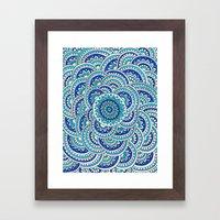 Floral Frost Framed Art Print