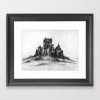 1989 - Spooky Castle Framed Art Print