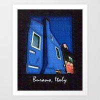Scenic Burano Italy Art Print