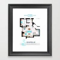 Jerry Seinfeld Apartment v2 Framed Art Print