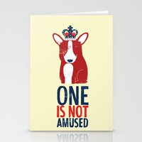 One is not amused Stationery Cards