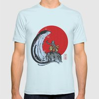 Aang in the Avatar State Mens Fitted Tee Light Blue SMALL