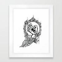 Screaming Klevra Framed Art Print