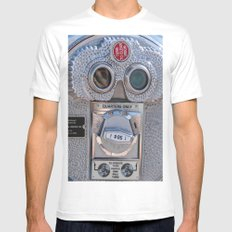 Look Thru Me Mens Fitted Tee White SMALL