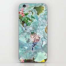 World Map of Flowers iPhone & iPod Skin