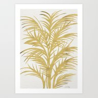 Art Print featuring Gold Palms by Cat Coquillette