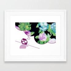 Mondai Gāru Framed Art Print