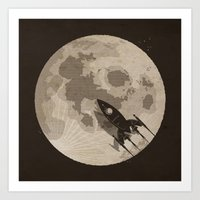 Around The Moon Art Print