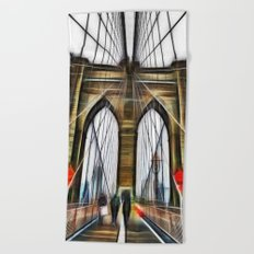 Brooklyn Bridge NYC Beach Towel