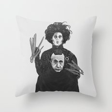 Bored With My Old Hairstyle Throw Pillow