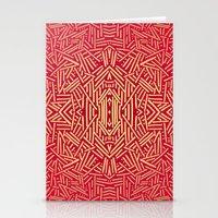 Radiate (Red Yellow Ochr… Stationery Cards