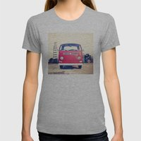 Vintage Volkswagen Bus Womens Fitted Tee Athletic Grey SMALL