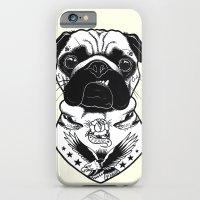Dog - Tattooed Pug iPhone 6 Slim Case