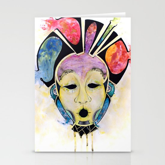 Veto's Mask Stationery Card