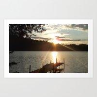 HARVEY'S LAKE SUNSET2 Art Print