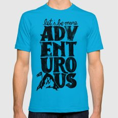 MORE ADVENTUROUS II Mens Fitted Tee Teal SMALL