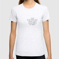 Travel west Womens Fitted Tee Ash Grey SMALL