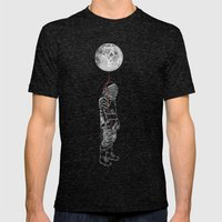 Moon Balloon 02 Mens Fitted Tee Tri-Black SMALL