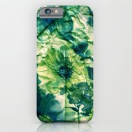 iPhone & iPod Case featuring Green Floral On Crumpled… by Clemm