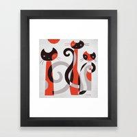 RED BLACK & GRAY Framed Art Print