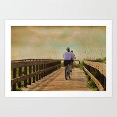 Sunny Day Bike Ride Art Print