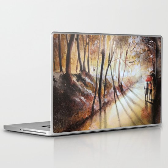 Break in the clouds - watercolor Laptop & iPad Skin