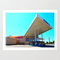 Art Print featuring Googie pawn shop by Vorona Photography