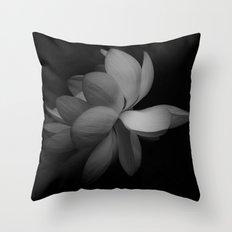 Black & While Lotus Throw Pillow