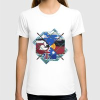 Down Under Womens Fitted Tee White SMALL