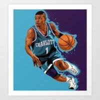 Mugsy Bogues: Charlotte Bobcats Art Print