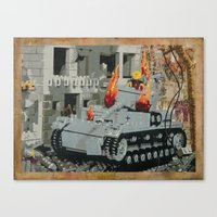 Burning Panzer IV Canvas Print