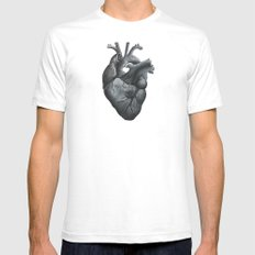 joshua's heart Mens Fitted Tee White SMALL