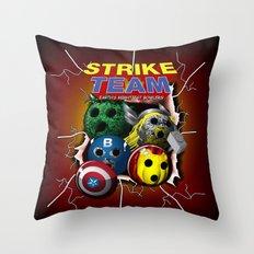 Strike Team - Superhero-themed Bowling Material Throw Pillow