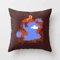 Brick Breaker Throw Pillow
