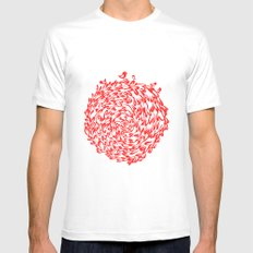 Red Birds Mens Fitted Tee White SMALL