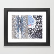 Framed Art Print featuring Artificialis by GiovZz.