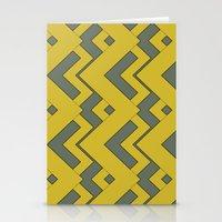 zig zag mustard Stationery Cards