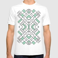 PS Grid 45 Mint Mens Fitted Tee White SMALL